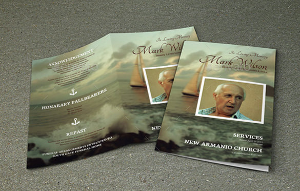 Funeral Bifold Word Brochure Template