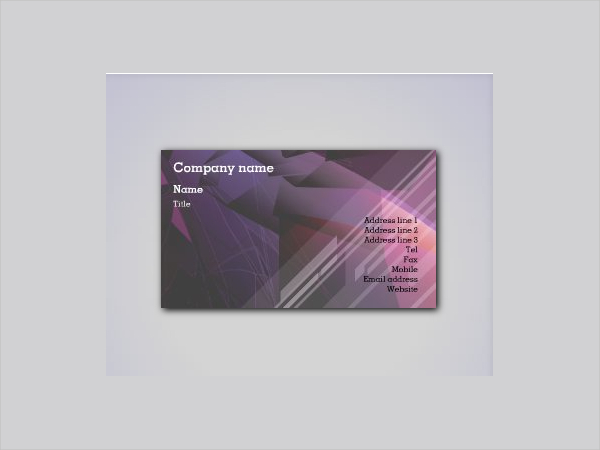 Funky Reflection Business Card Template