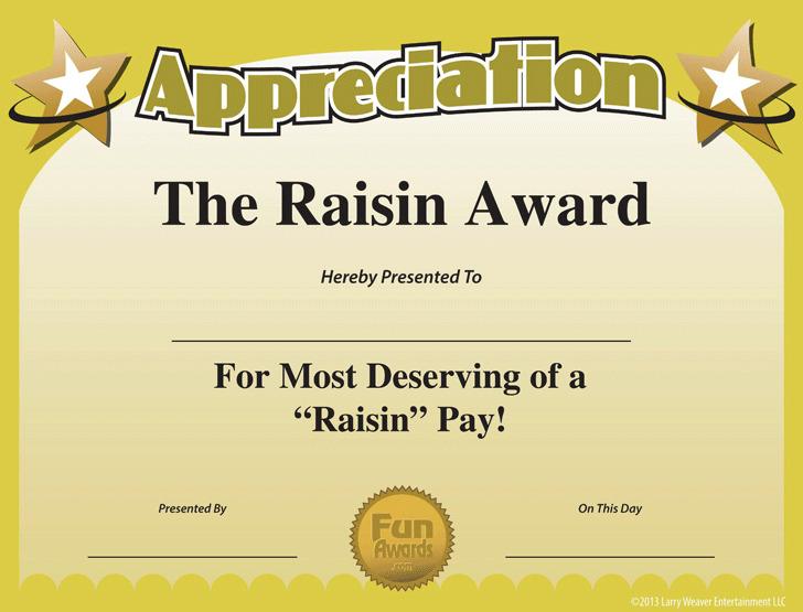 Funny Appreciation Certificate