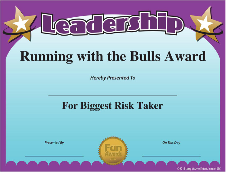 Gag Funny Leadership Certificate Template