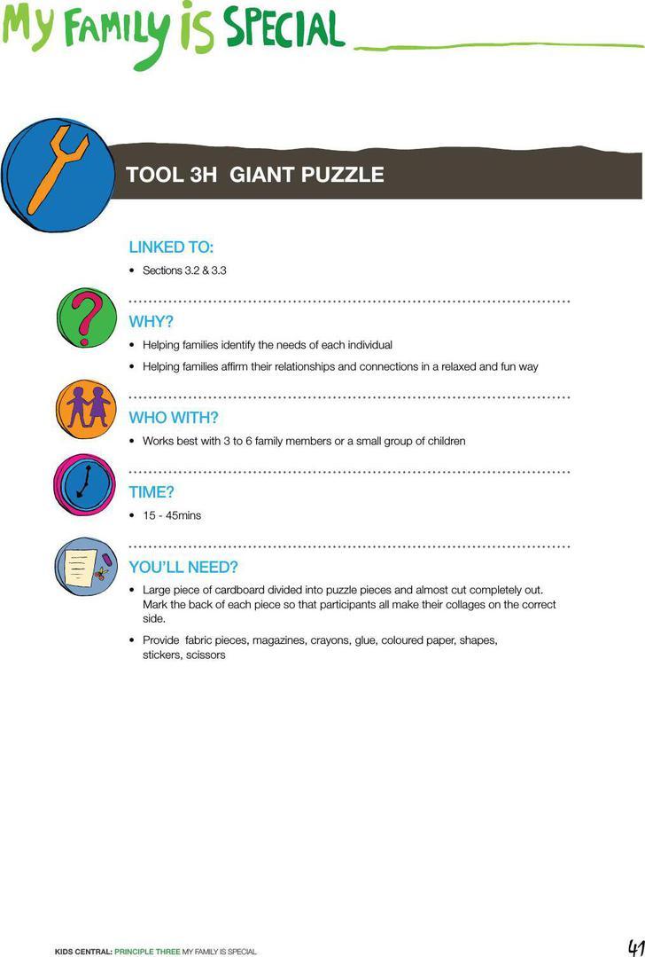 Gaint Puzzle Template PDF