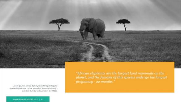 Gajah Google Slide Template PPTX Download