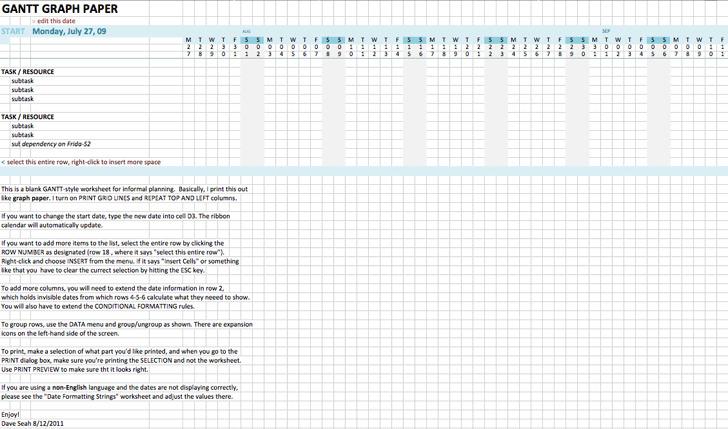 Excel Gantt Template