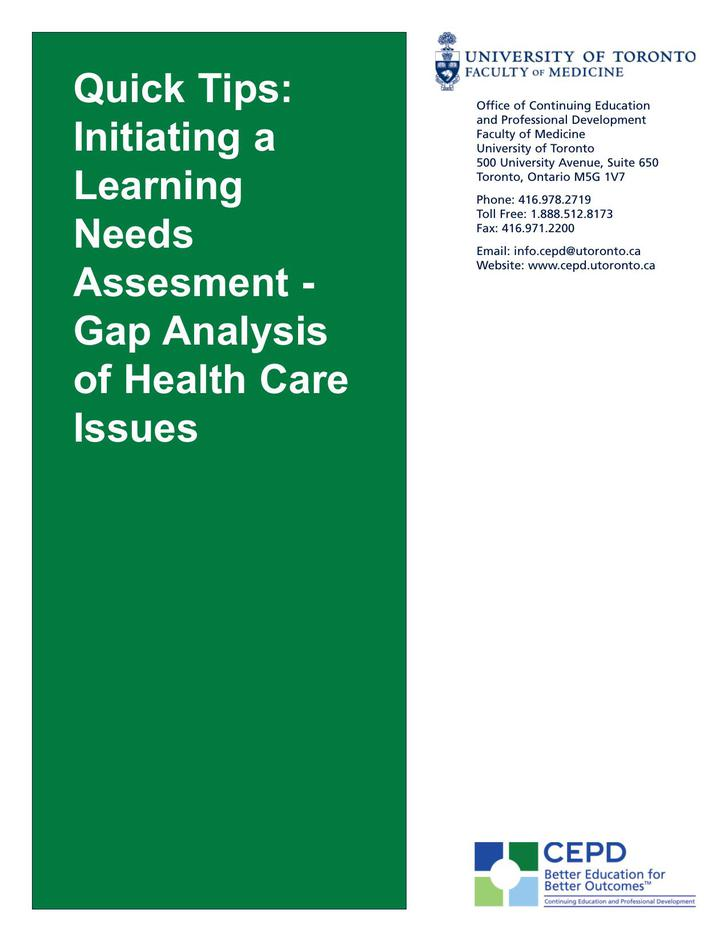 Gap Analysis of Health Care Issues PDF Free Download