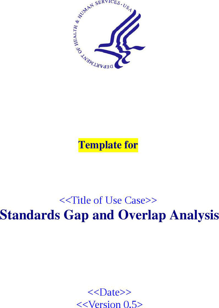 Standards gap and Overlap Analysis