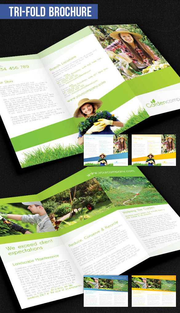 Gardening Brochure Pack Download - Free PSD Template
