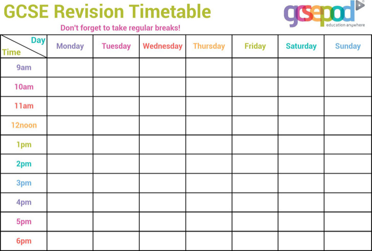 11  timetable templates free download