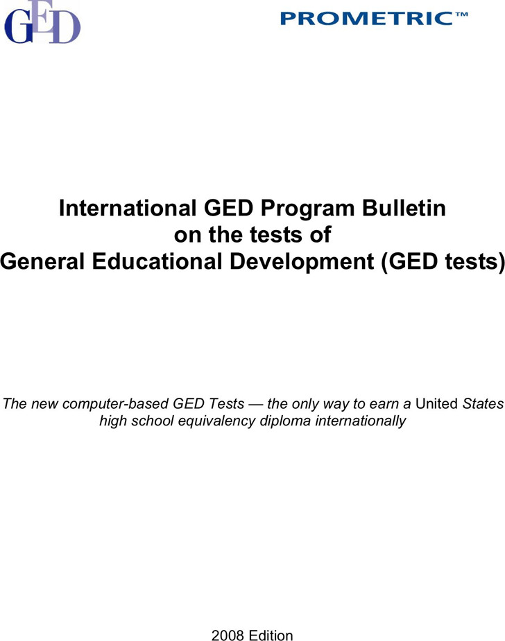 GED Sample Test Template 3