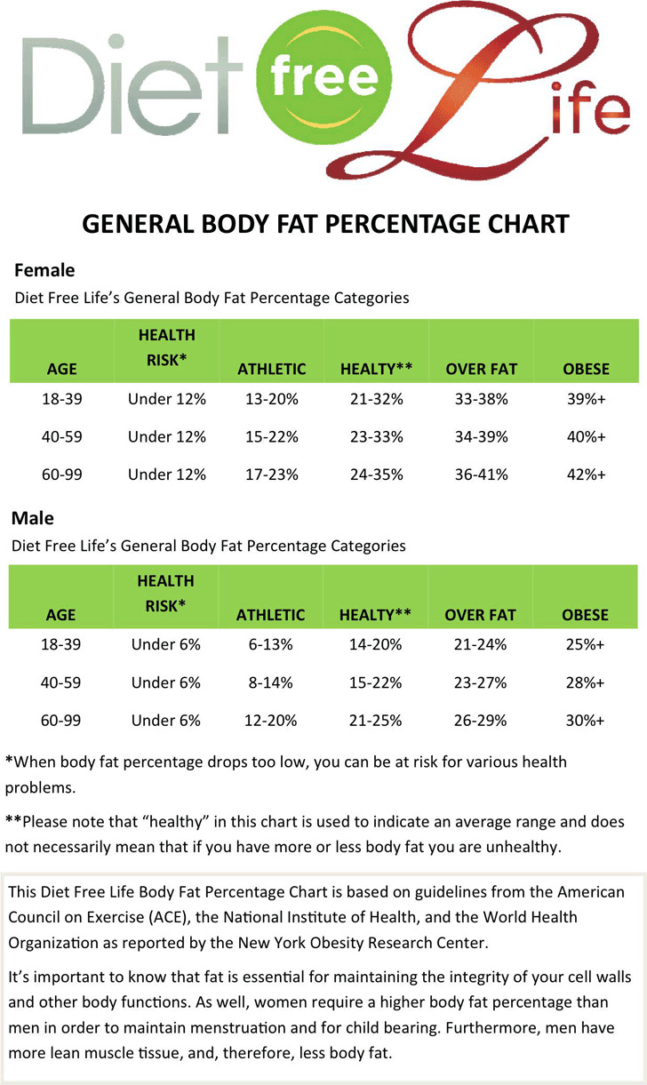 2 body fat percentage chart