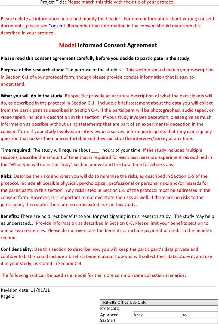 5  consent form free download