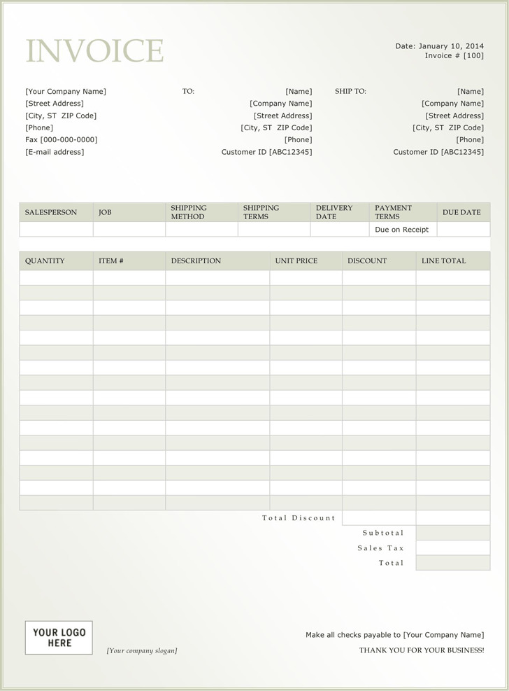 General Invoice Template 3
