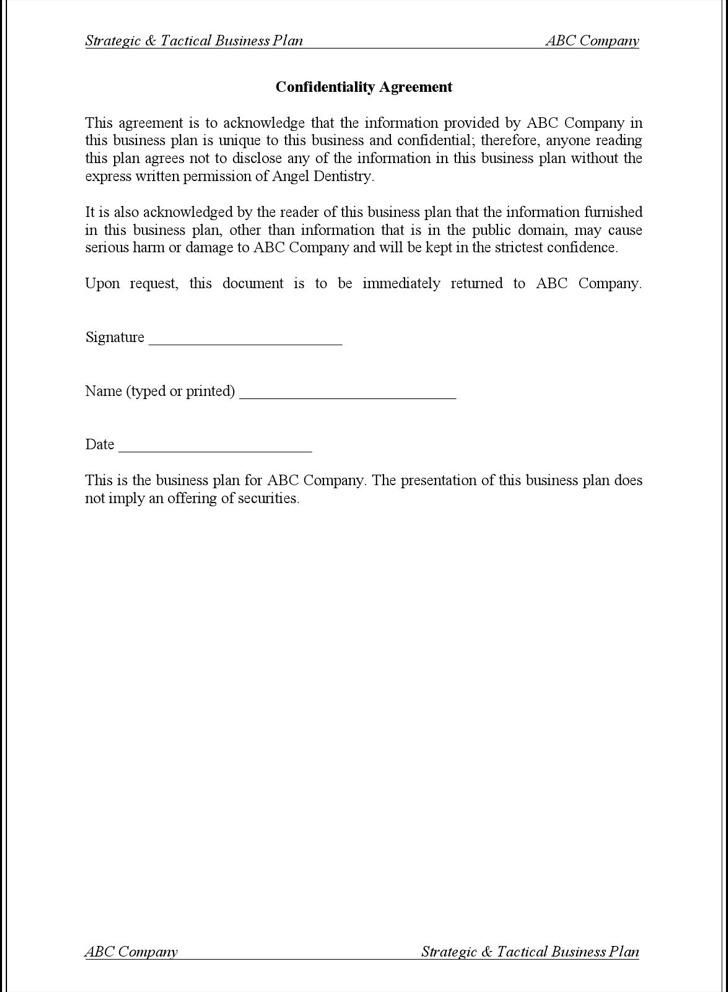 11 Business Confidentiality Agreement Templates Free Download