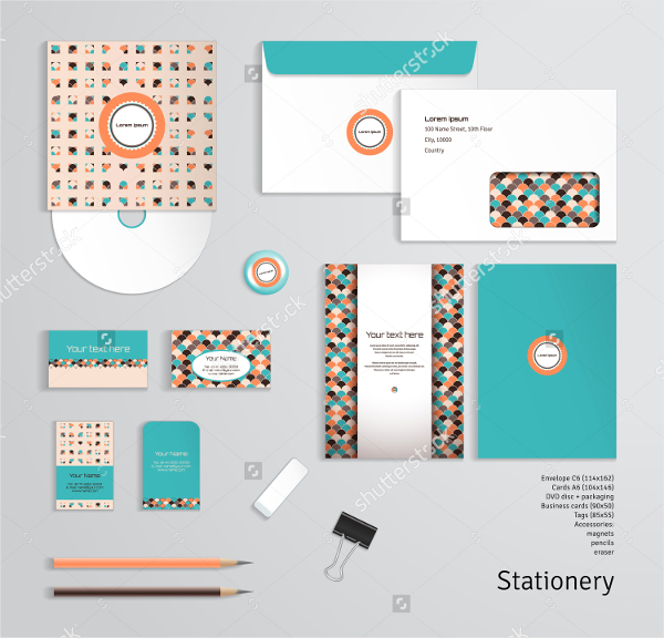 Geometric Pattern Magnetic Business Card Template