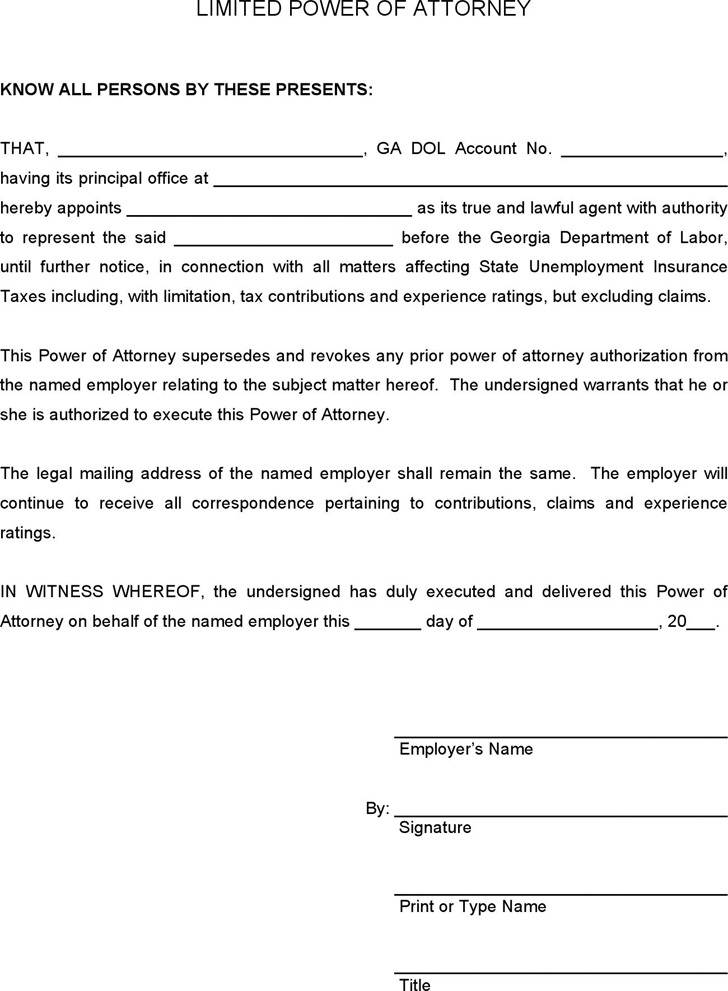 Download Georgia Power Of Attorney Form For Free Tidytemplates