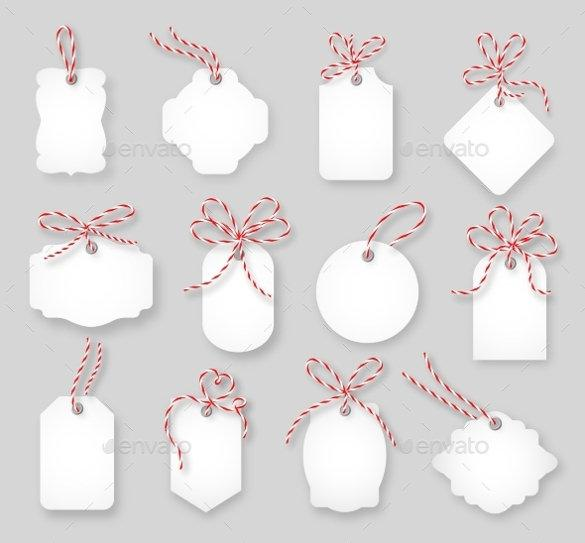 Gift Cards Tied Up With Twine Bow Vector EPS Format