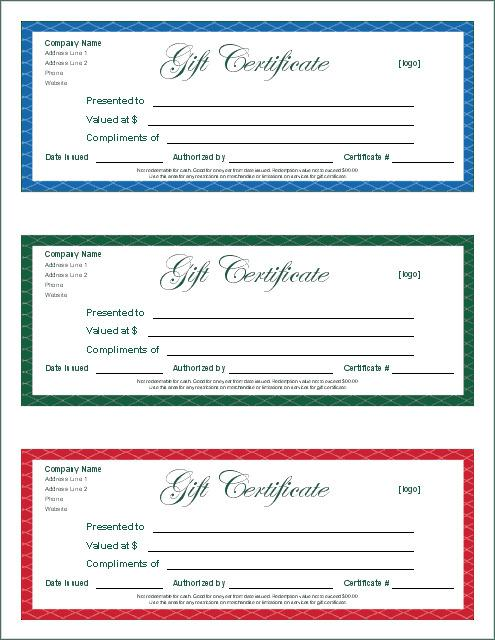 Gift Certificate Template Word For Free Download