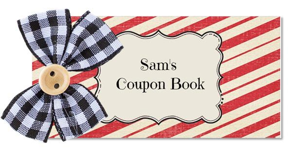 Gift Coupon Book Template
