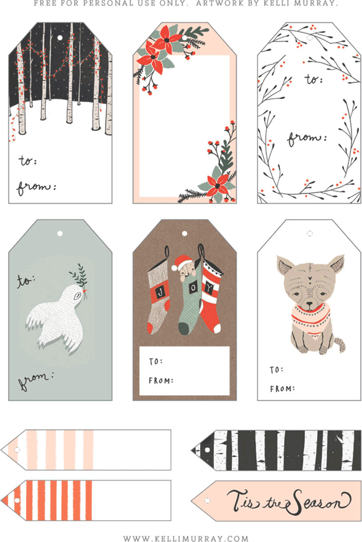 Gift Tag Template 4