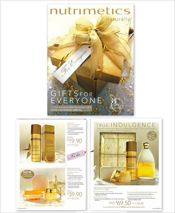 Gifts For Everyone Christmas Brochure Template Design