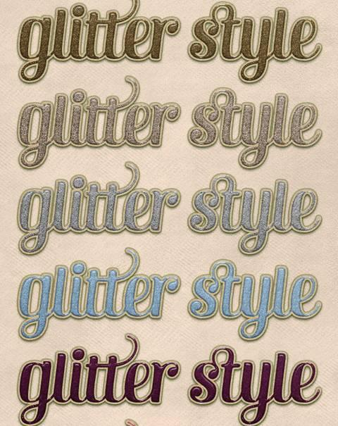Glossy Glitter Glue Font