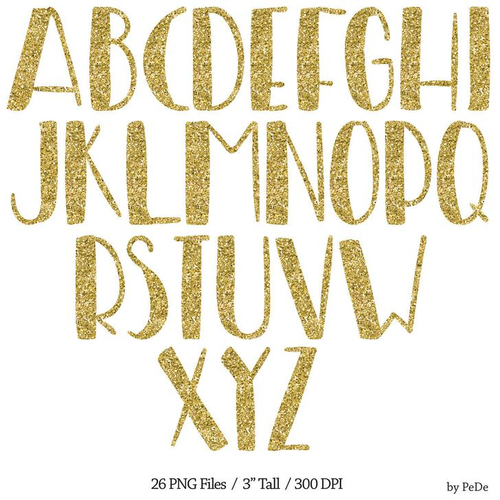 Sparkling Silver Alphabets: 12+ Glitter Fonts Free Download