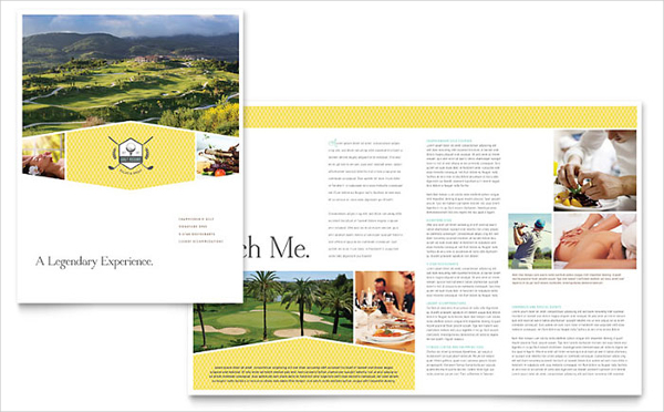 Golf Resort Brochure Template Design TR0130101