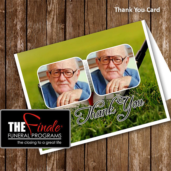 Golfer Thank You Funeral Card Download
