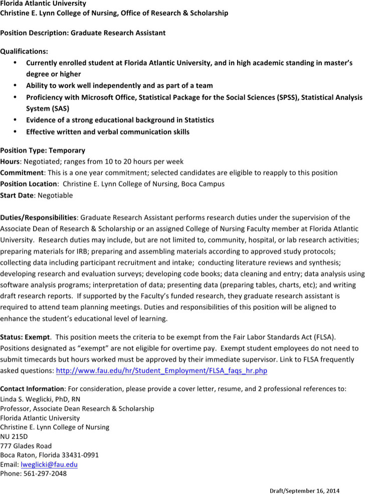 research assistant job description resume