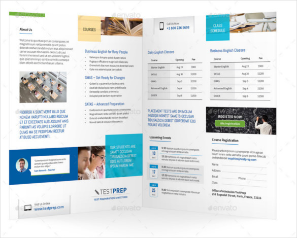 Graduation Education Bifold Brochure Template Illustrator