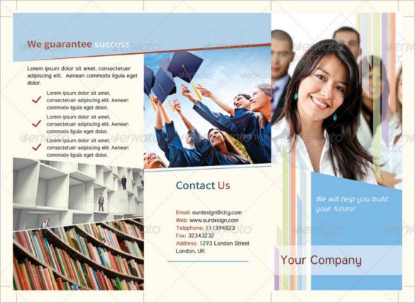 Graduation Educational Tri-Fold Brochure Template PSD