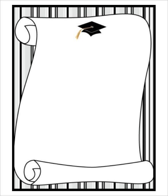 Graduation Papaer Scroll Template Invitation