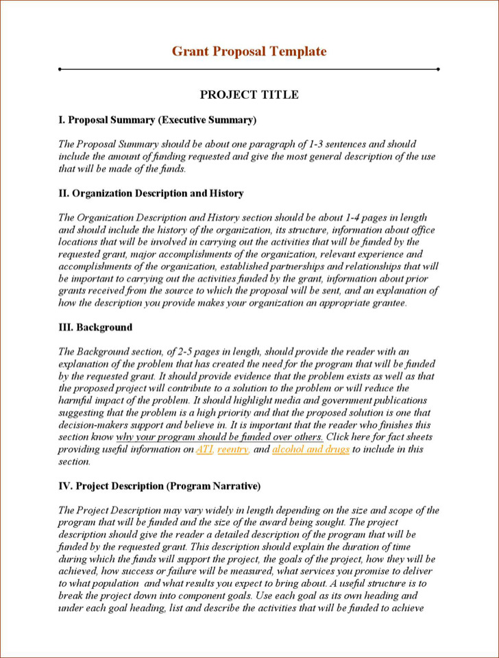 Grant Proposal Writing Template Sample
