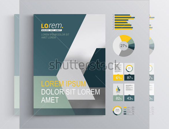 Gray Corporate Brochure Template Design