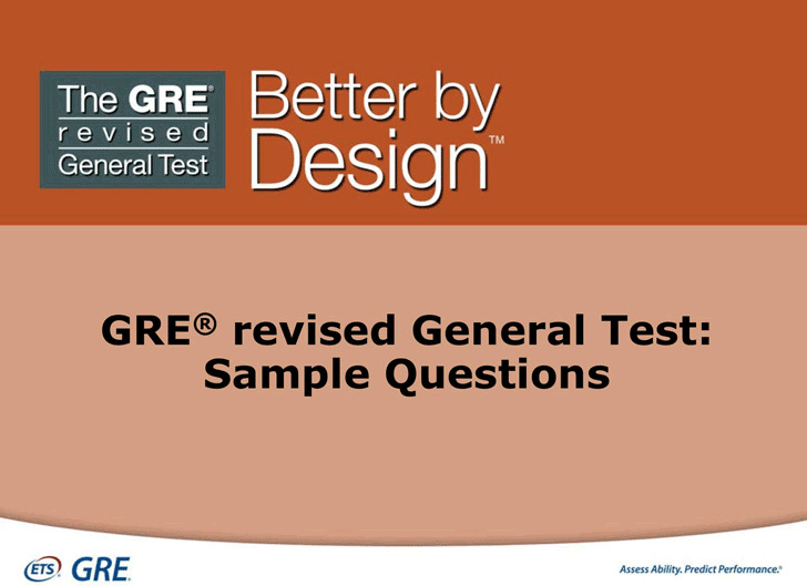 GRE Sample Questions Template 2