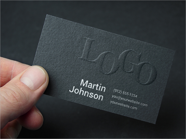 Grey Embossed Business Card