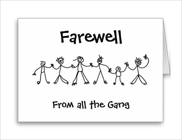 Group Farewell Card Template Free