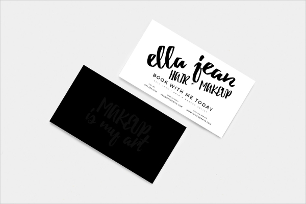 Hair & Makeup Artist Customizable Business Card