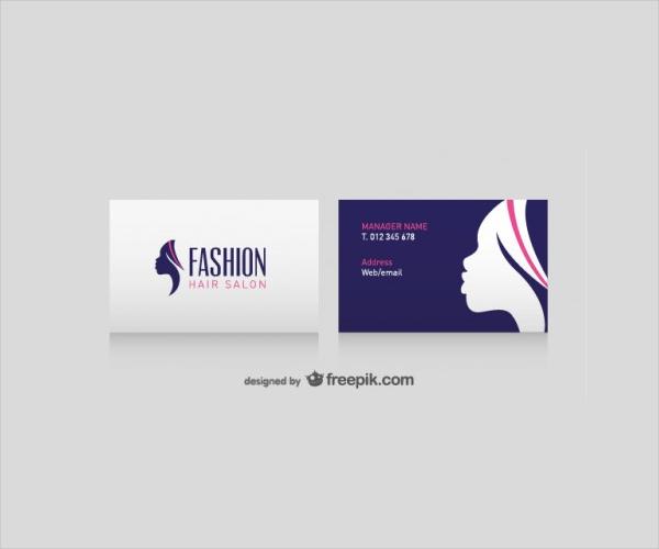 Hair Salon Business Card Free Vector