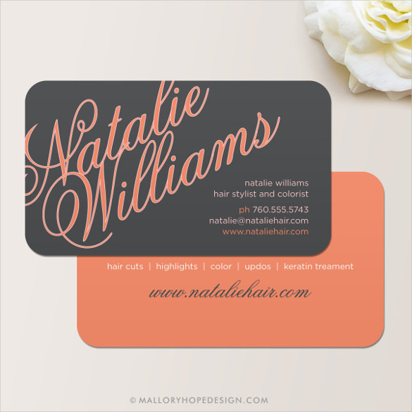 Hair Stylist Business Card Instant Download