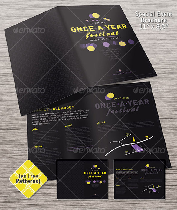 Half Fold Special Event Brochure
