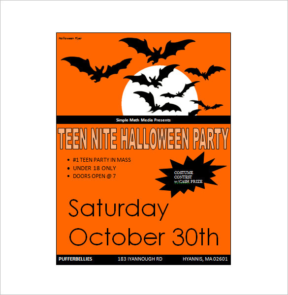 Halloween microsoft Word Invitation Templates for Mac