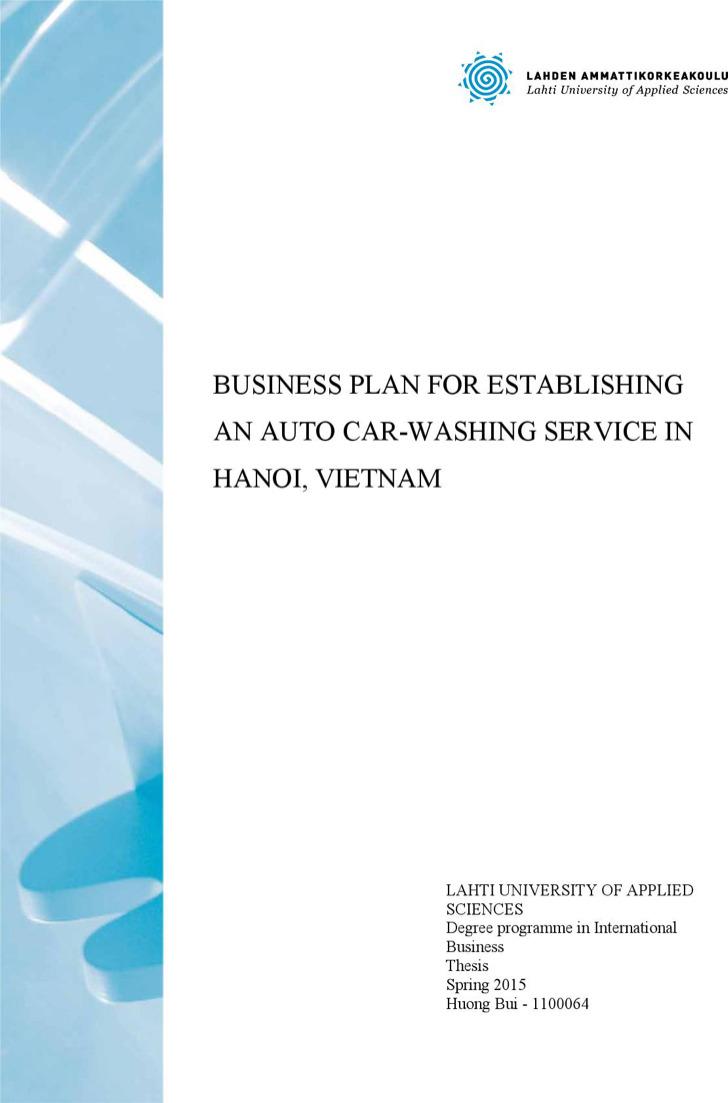 Hand Car Wash Business Plan1