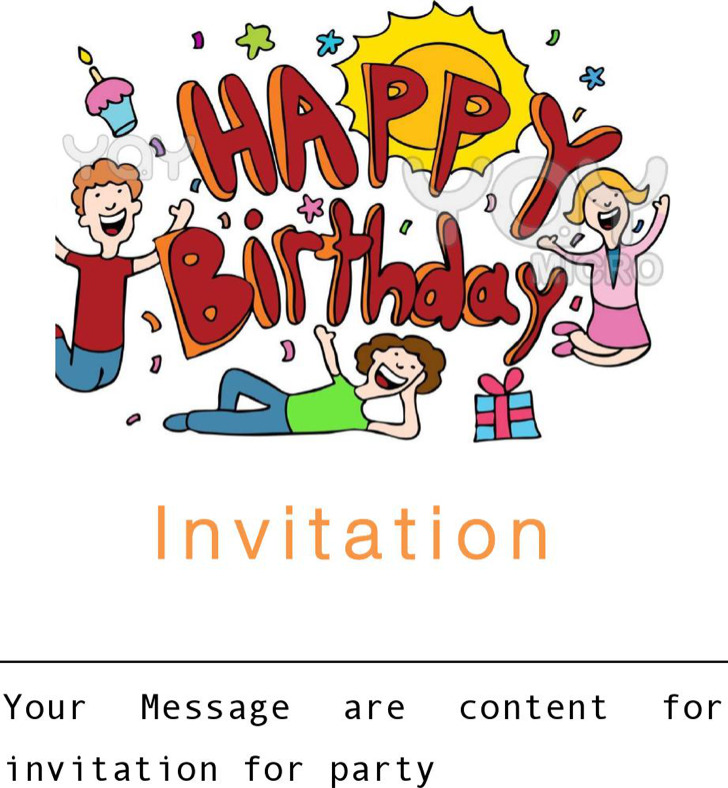 Happy Birthday Blank Ivitation Free Download