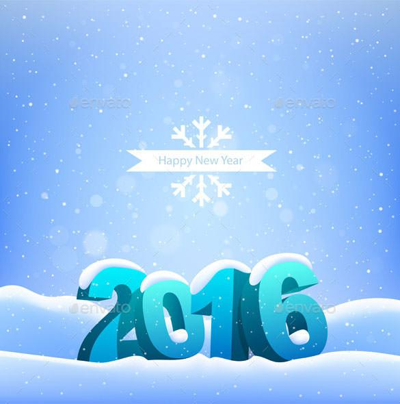 Happy New Year 2016 Greeting Card Background Download
