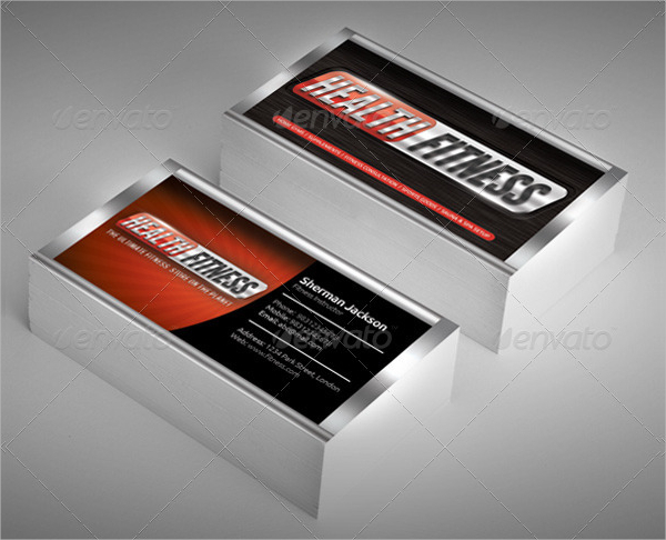 Health & Fitness Business Card