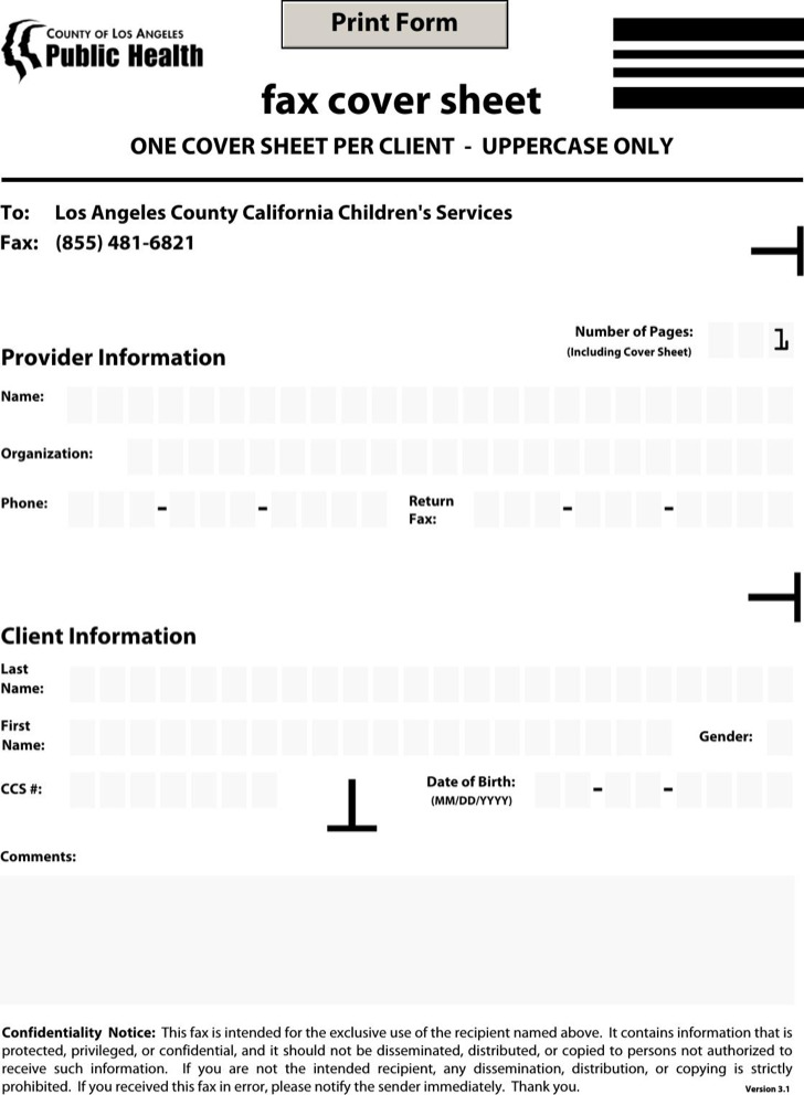 Health Care Sample Fax Cover Sheet Template