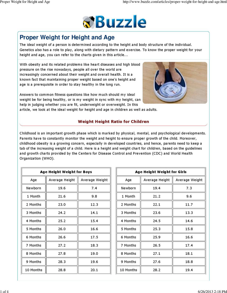 Download Sample Height And Weight Chart Templates For Men For Free
