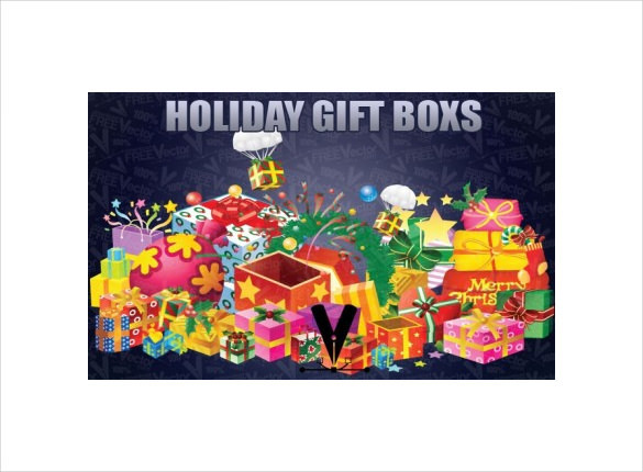Holiday Gift Boxes Template