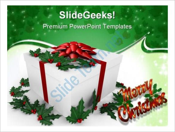 Holiday Gift Christmas PowerPoint Background Template