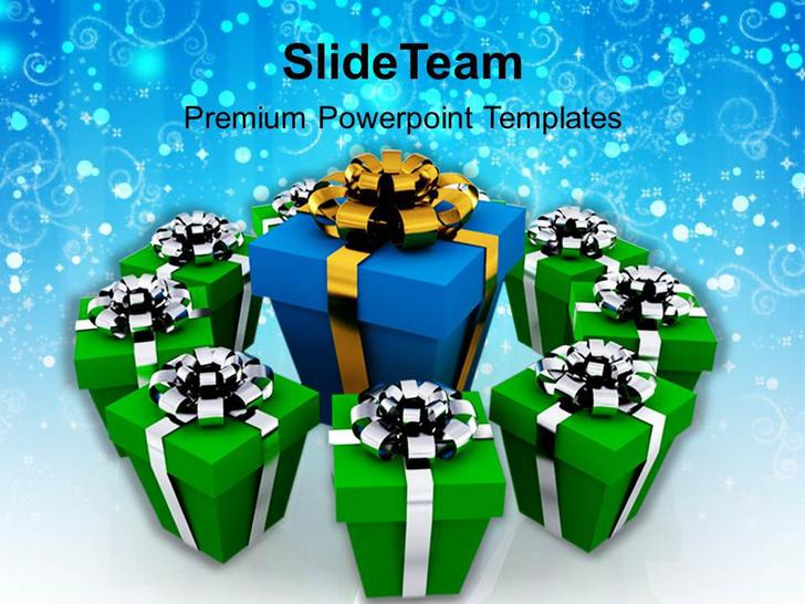Holidays Christmas Gifts Festival Templates PPT Format